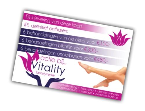 IPL actie bij Vitality Beautycenter!